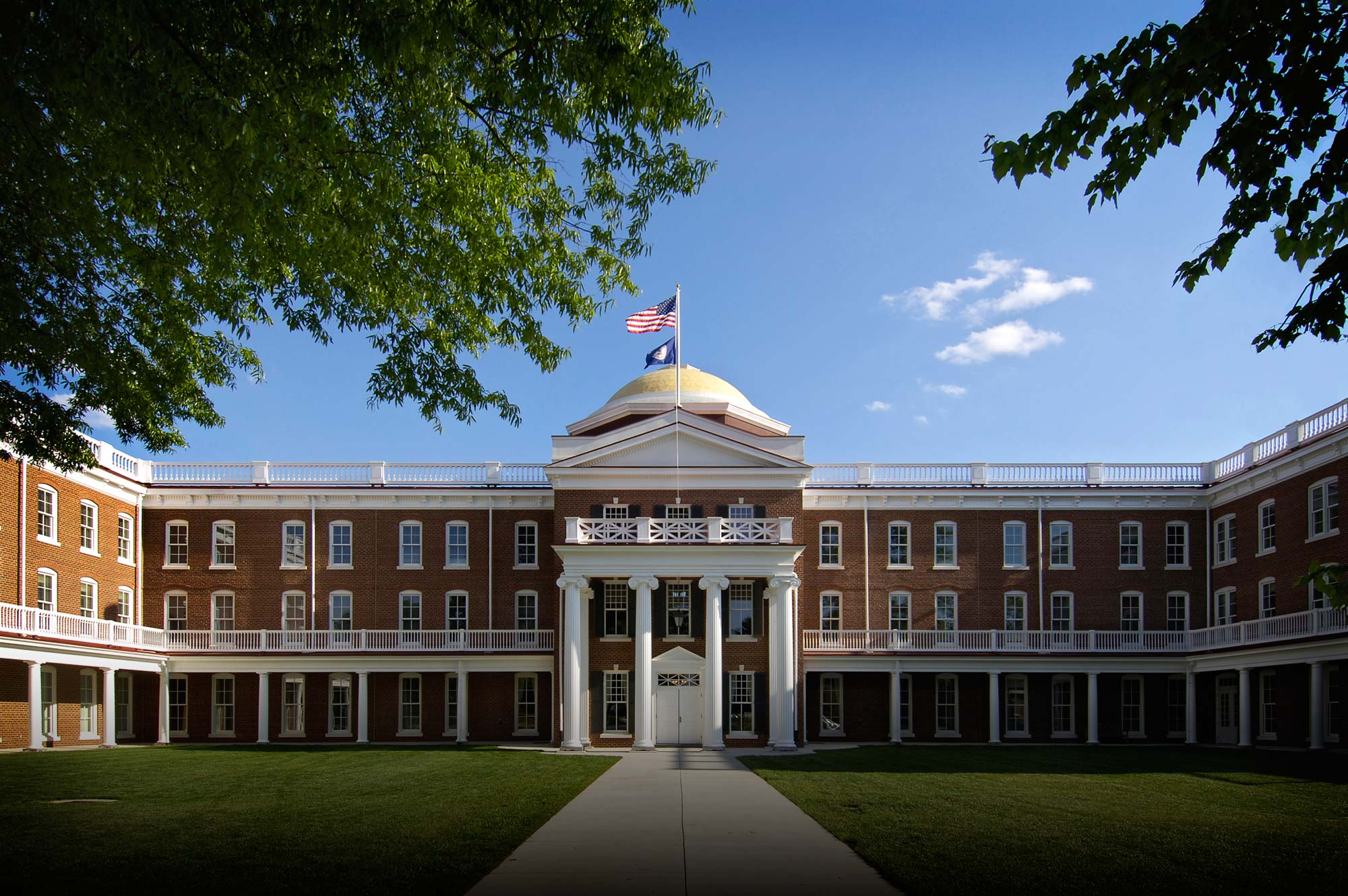 Ruffner Hall reconstructed after being destroyed by fire in 2001
